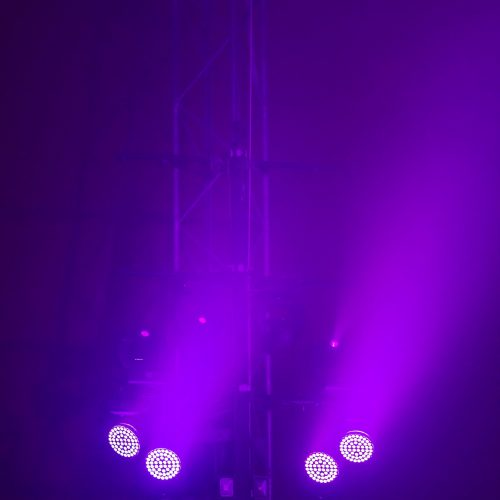 Lights on the stage in circus